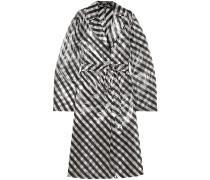 Striped Organza Trench Coat