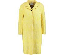 Cotton-blend Bouclé Coat Gelb