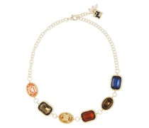 -tone Crystal Necklace