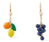 -tone Enamel Earrings