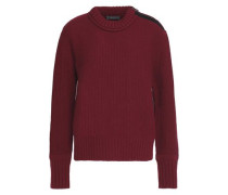 Raine fleece-trimmed wool and cashmere-blend sweater