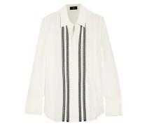 Alwinth Pintucked Silk-chiffon Shirt Elfenbein