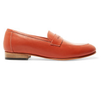 Penny Leather Loafers Knallorange