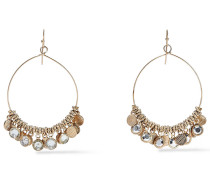 Burnished -tone Crystal Earrings
