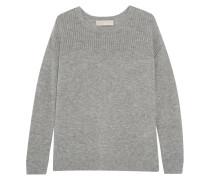 Merino Wool And Cashmere-blend Sweater Hellgrau