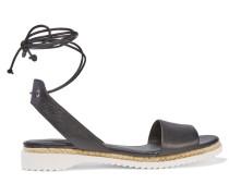 Lindy Lace-up Leather Sandals Schwarz