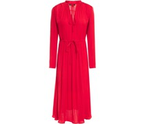 Gathe Mousseline Midi Dress