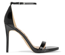 Ariella Faux Patent-leather Sandals