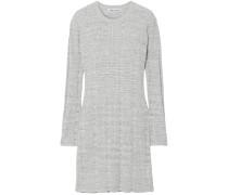 Woman Kellen Ribbed Cotton-blend Tunic Light Gray