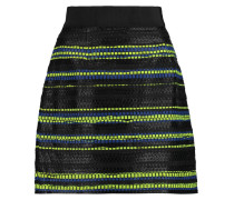 Metallic Tweed Mini Skirt Schwarz