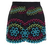 Shorts aus Baumwolle mit Lochstickerei