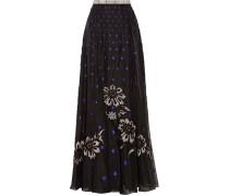 Josette Embellished Polka-dot Silk-organza Maxi Skirt Schwarz