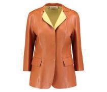 Two-tone leather blazer