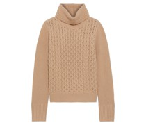 Billie Cable-knit Cashmere Turtleneck Sweater