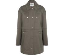 Cotton-blend Twill Jacket Armeegrün