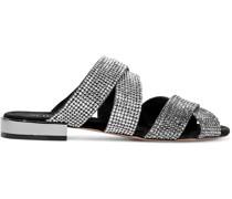 Kayl Crystal-embellished Suede Slides
