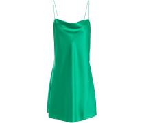 The Axel Draped Stretch-silk Satin Mini Slip Dress