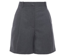 Pinstriped Cady Shorts