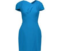 Lurey Gathered Wool-blend Crepe Mini Dress Kobaltblau
