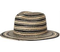 Two-tone striped straw hat