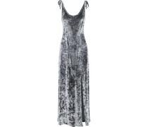 Crushed-velvet maxi dress