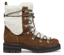 Isla Shearling And Suede Ankle Boots