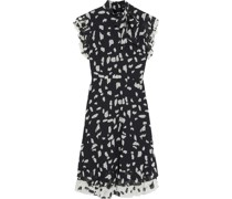 Ruffled Printed Fil Coupé Georgette Dress