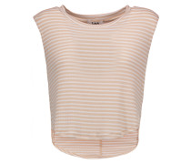 Atlanta Cropped Striped Modal-blend Top Sand