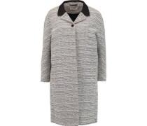 Crepe-trimmed two-tone bouclé coat