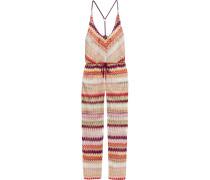 Crochet-knit Jumpsuit Mehrfarbig