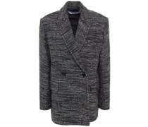 Shakila Double-breasted Metallic Tweed Jacket