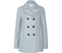 Double-breasted Wool-blend Peacoat Himmelblau