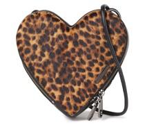 Leopard-print Calf Hair Shoulder Bag