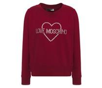 Crystal-embellished Cotton-blend Fleece Sweatshirt