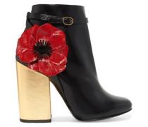 Mirabelle appliquéd leather ankle boots