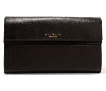 Leather Clutch Dunkelbraun