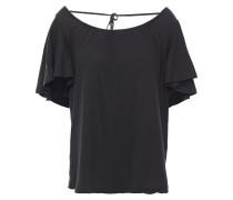 Hello Tie-back Cotton-jersey T-shirt