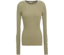 Ribbed Cotton-blend Sweater