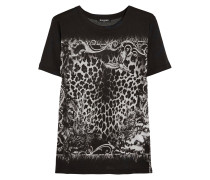 Printed Cotton-jersey T-shirt Schiefer