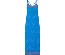Jolene printed stretch-jersey nightgown