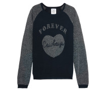 Forever Cowboy Metallic Knitted Sweater Mitternachtsblau