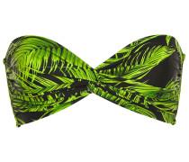 Twist-front Printed Bandeau Bikini Top