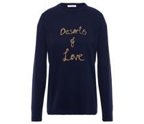 Metallic Intarsia Cashmere-blend Sweater