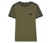 T-shirt aus Baumwoll-jersey mit Streifen und Stickereien