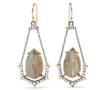 Gold-tone, Crystal And Stone Earrings