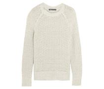 Open-knit Cotton-blend Sweater Elfenbein
