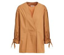 Bluse aus Baumwollpopeline mit Schleife