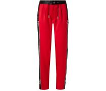Zip-detailed Wool-sateen Straight-leg Pants