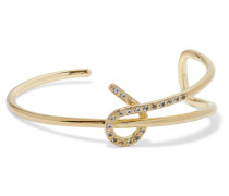 Lucent Gold-tone Crystal Bracelet