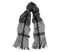 Checked Wool, Silk And Cashmere-blend Scarf Grau